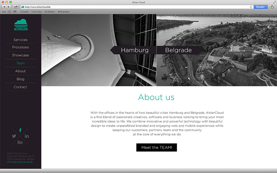 Alster Cloud Web Site - About Us Page