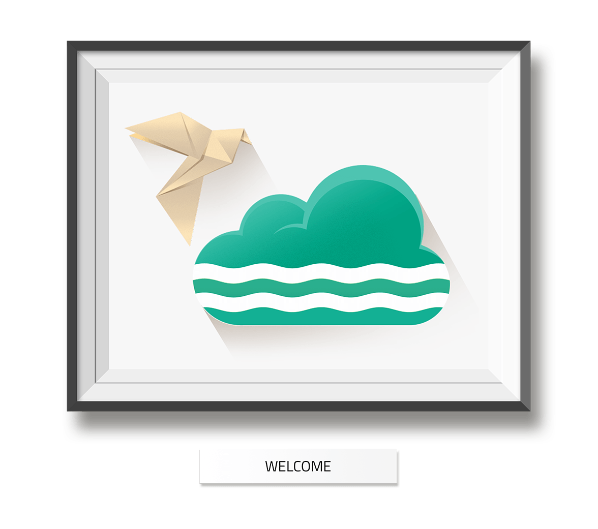 Alster Cloud Web Site - Welcome Screen Illustration