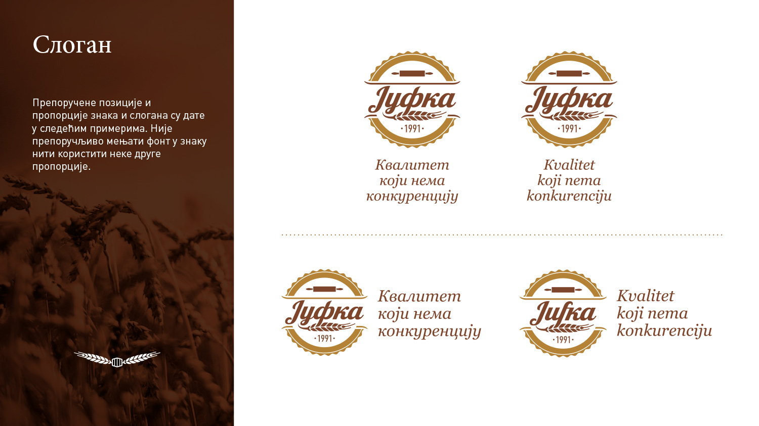 Jufka Corporate Identity guide book