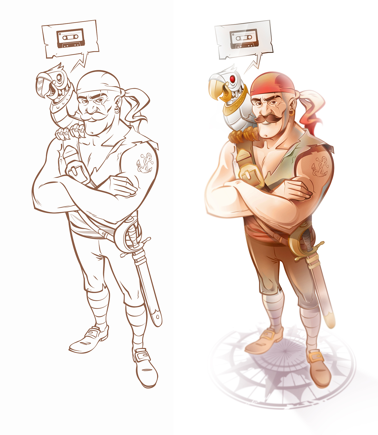 Steampunk Character Design - Pirate